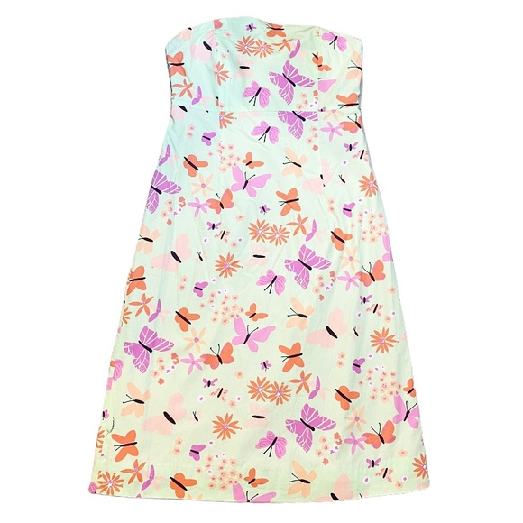 LILLY PULITZER vintage butterfly strapless dress